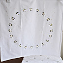 Cotton Embroidery White Floral Table Cloths