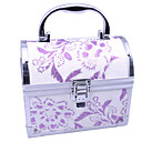 Aluminium Alloy Double-deck Princess Lockable 16.5*10.5*14cm Cosmetic Box