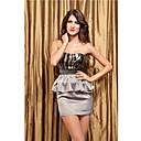 Women's Bandeau Ruffles Skirt Suit