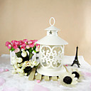 Classic Iron Lantern Floral Candle
