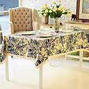 Classic Floral Linen / Cotton Blend Table Cloth