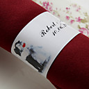 Personalized Paper Napkin Ring - Our Happy Wedding
