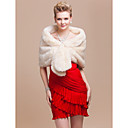 Elegant Faux Fur Wedding / Special Occasion Shawl