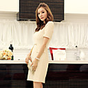 Women's Slim Dress with Chain Detail