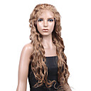 100% Indian Remy Hair 26 Inch 4cm Curly Full Lace Wigs