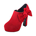 Suede Chunky Heel Ankle Boots With Two Colors Of Bowknot Party / Evening Shoes (More Colors)