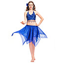 Wonmen Dancewear Chiffon With Sequins Belly Outfit More Colors Available