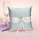 Elegant Wedding Ring Pillow With Sash And Pearl