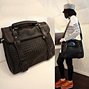 Women's Black Work Woven Crossbody