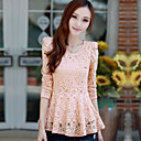 Women's Lace Blouse with Ruffles