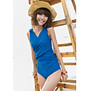 Women's Sexy V Neck One-piece Swimsuit with Bra Pads
