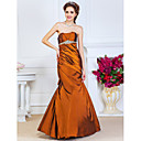 Brown Trumpet/Mermaid Sweetheart Strapless Floor-length Taffeta Evening Dresses