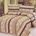3PCS Classic Pattern Cotton Queen Size Quilt Set