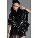 Gorgeous Half Sleeve Standing Collar Rabbit Fur Casual/Party Jacket (More Colors)