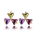Elegant Irregular 18K Gold Plated CZ Cubic Zirconia Earring(More Colors)