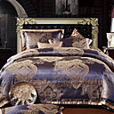 4 PCS Rome Style Jacquard Polyester Full Duvet Cover Set