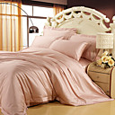 4PCS Dorothy Light Pink Solid Tencel Duvet Cover Set