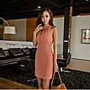 Women's Mock Neck Bodycon Dress (Slim Fit)