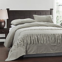 3PCS Wrinkle Design Garment Wash Linen Duvet Cover Set