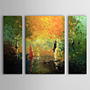 Hand Painted Oil Painting Abstract Set of 3 1303-AB0399