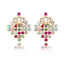 Fashion Square 18K Gold Plated High Quality Alloy and Crystal Earring(More Colors)