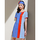 TS Polka Dots Contrast Color Dress