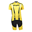 Kooplus 100% Polyester Short Sleeve Quick Dry Mens Cycling Suits (schwarz und gelb)