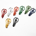 clips bombilla estilo colorido del papel (color al azar, 10-pack)