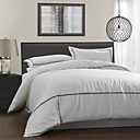 3PCS Stripe Design Garment Wash Linen Duvet Cover Set