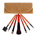 7Pcs Portable Lovely Lint Coffee Bag Makeup Brush Set
