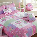 4PCS Elephant Pattern Quilted Cotton Full Duvet Cover Set