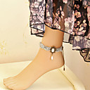 Handmade Gray Chiffon Rose Princess Lolita Anklet