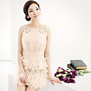 Women's Beads Decor 3D Flower Dress