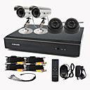 4 Channel One-Touch Online CCTV DVR System(4 Channel D1 Recording,15m IR)