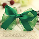 Women's Elegant Green Galloon Bow Hair Clip