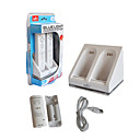 PEGA Dual USB Charging Stand/Station/Dock + 2 2800 mAh Battery Pack for Wii/Wii U Remote