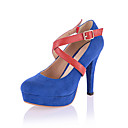Suede Stiletto Heel Pumps With Buckle Party / Evening Shoes