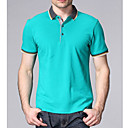 Men's Work Causal Shirt Collar Short Sleeve T-shirt