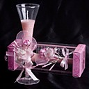 Pale Pink Rose & Calla Lily Glass Candle Holder