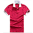 Men's Hot Summer-seizoen Shirt Kraag korte mouw T-shirt