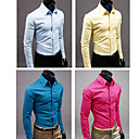 Men's Shirt Collar Basic Long Sleeve Shirt