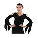 Dancewear Viscose Latin Dance Top For Ladies