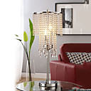 80W Artistic Table Light with Crystal Beaded Pendant Shade