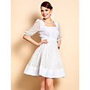 TS U Neck Cutout Skater Dress