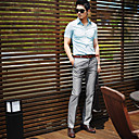 Men's Shirt Collar Solid Color Short Sleeve Shirt