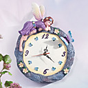 12&quot; Flower Fairy Polyresin Wall Clock