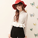 Women's Beaded Ruffle Lace Blouse