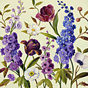 Printed Art Botanical Floral Lisa's 3 Garden by Lisa Audit