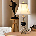 40W Artistic Table Light with Fabric Shade and Black Globe Lampstand