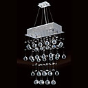 200W Modern Ceiling Light with 4 Lights and Crystal Beaded Pendants (GU10 Base)
